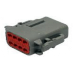 Deutsch DTM06-8SA Plug 8 Socket Gray 2 Each