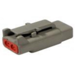 Deutsch DTM06-2S Plug 2 Socket Gray 5 Each