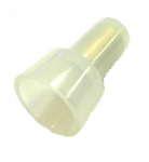 Nylon Closed End Connectors (Pigtail Connectors), Clear, 16-14