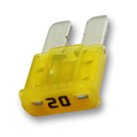 20 Amp MICRO2 Fuses 32V Yellow Pack of 5