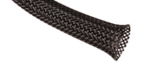 Techflex Flexo PET-T Tight Weave Braided Sleeving, Black, 1/4""