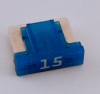 15 Amp Low Profile Mini Fuses LMIN15 5 Count Bag