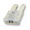 25 Amp MICRO2™ Fuses 32V White Pack of 5