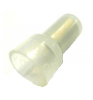 Nylon Closed End Connectors (Pigtail Connectors), Clear, 22-16