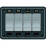 Blue Sea 8262, Waterproof Contura Switch Panel, 4 Position