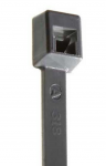 "ACT AL-07-50-8-C 7"" #50 lb. Gray Cable Ties 100/Pkg"