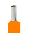 Twin Insulated Wire Ferrules, Series W, 22x2 AWG, Orange, 14.5mm