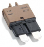 Low Profile ATC® 7.5 Amp Brown Circuit Breaker 1 Each
