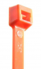 "4"" #18 lb Minature Orange Cable Ties 100/Pkg."